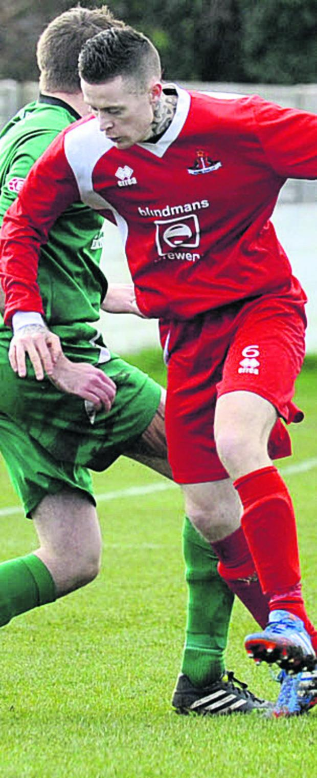 This Is Wiltshire: Jon Vance scored twice for Frome to send them to the Somerset Premier Cup final