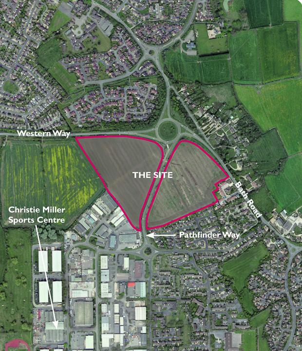This Is Wiltshire: The buffer zone fields which could be used for homes
