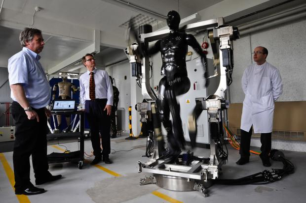 This Is Wiltshire: The robotic mannequin is put through its paces