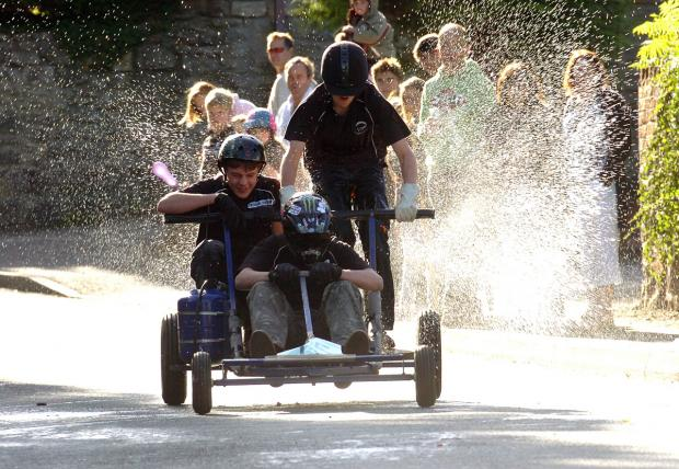 This Is Wiltshire: Great Cheverell Soapbox derby fun from 2010