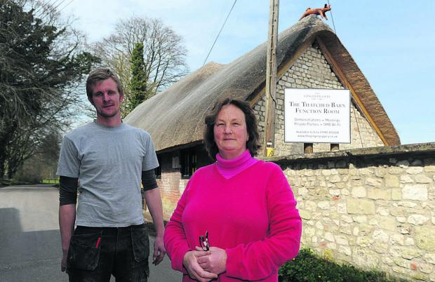 This Is Wiltshire: Caroline Wheatley-Hubbard with  Nick Hoath by the barn