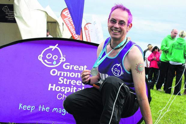 This Is Wiltshire: Gary Tubb, who will take part in the London Marathon on Sunday April 13 to raise vital funds for Great Ormond Street Hospital Children's Charity
