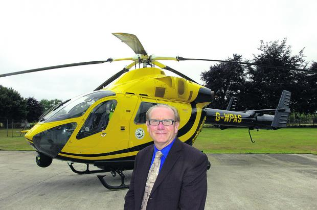 This Is Wiltshire: David Philpott, chief executive of Wiltshire Air Ambulance Charitable Trust