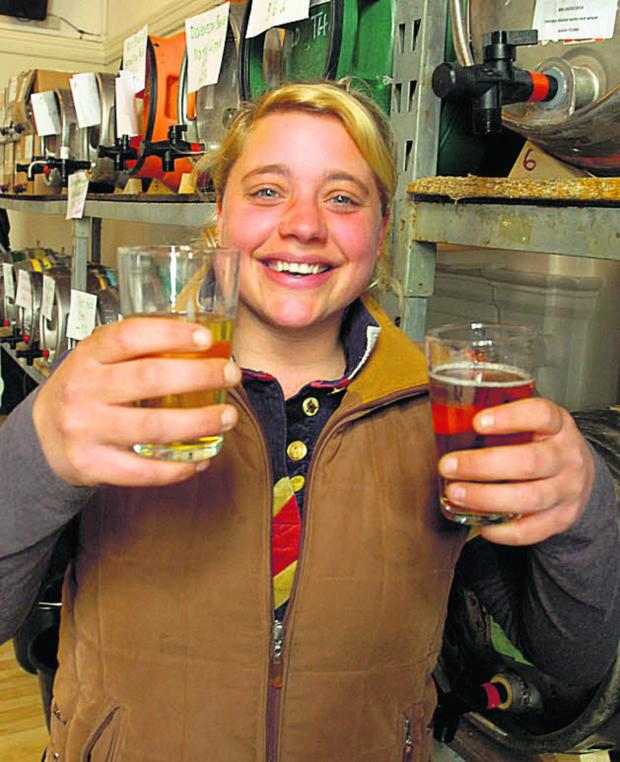 This Is Wiltshire: Cheryl Bond at Malmesbury Beer Festival