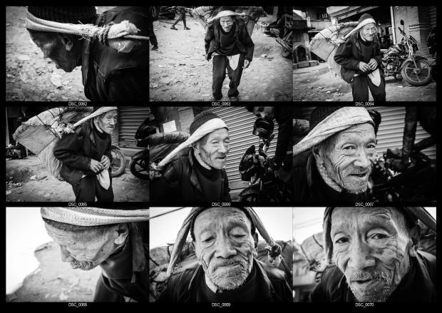 "This Is Wiltshire: Students of Edwin Koo's annual masterclass in Nepal are encouraged to ""tell real stories"" by capturing everyday scenes. This is a series based on an elderly Nepalese man"