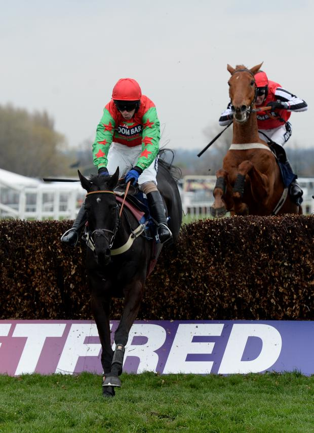 This Is Wiltshire: Balder Succes and Wayne Hutchinson win for Barbury Castle trainer Alan King at Aintree on Saturday