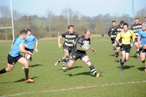 This Is Wiltshire: Ian Cook was a try scorer for Chippenham