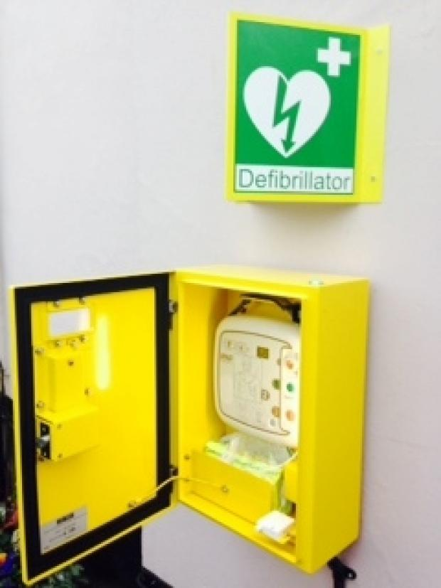 This Is Wiltshire: Defibrillator at Woodborough social club