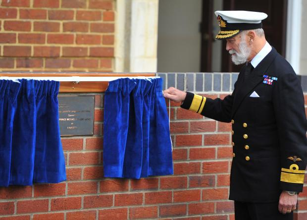 This Is Wiltshire: Prince Michael of Kent opening the new MOD's Centre of Languages and Culture in Shrivenham