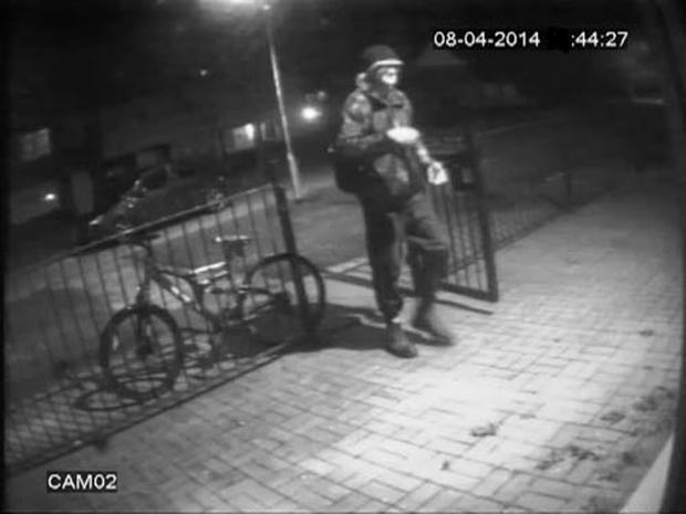 This Is Wiltshire: CCTV image of the man police wish to identify following an outbreak of swastika-inspired graffiti