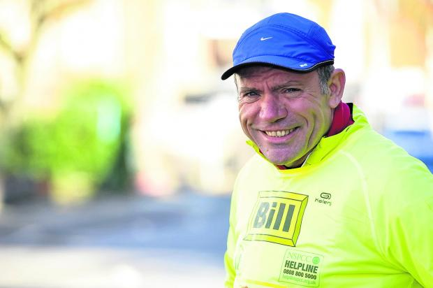 This Is Wiltshire: Bill Doody is running seven marathons in seven days to help raise money for the NSPCC
