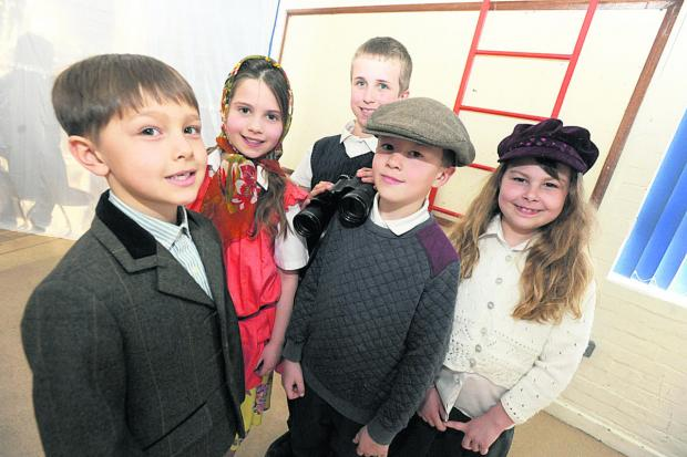This Is Wiltshire: War show performers, from left, Xavi, Jasmine, George, Jack and Emily