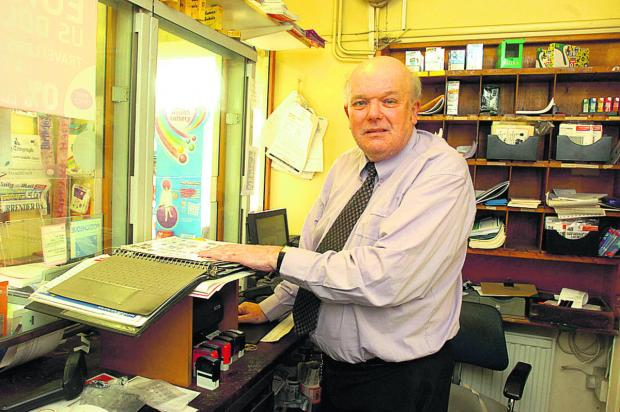 This Is Wiltshire: Peter Smith has been behind the counter at Sutton Benger post office since the 1980s