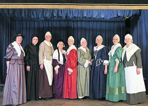 This Is Wiltshire: Athelstan Players cast members Sue Poole, Hannah Wood, Amanda Duffin, Marilyn Johnson, Pat Castle, Elizabeth Outlaw, Megan Mills, Hayley Blake