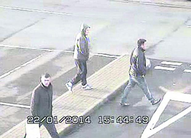 This Is Wiltshire: The three men police wish to speak to over the use of fake £50 notes