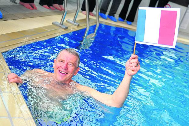 This Is Wiltshire: Dave Logan, who did the equivalent of a cross-Channel swim at Blunsdon House Hotel