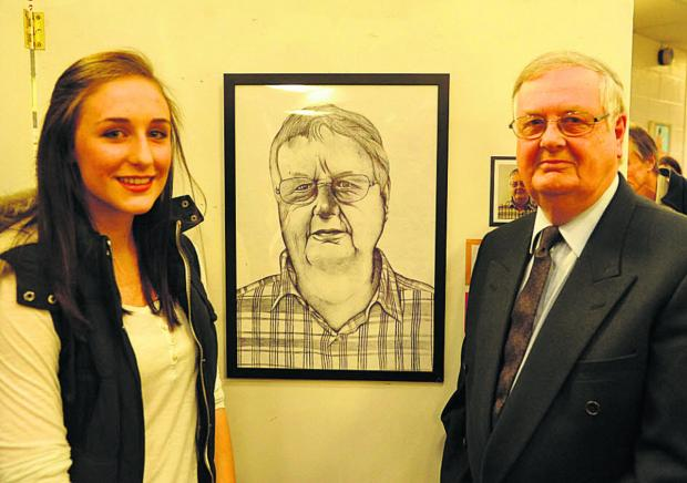 This Is Wiltshire: Artist Emily Lovatt and her subject, Mike Jones