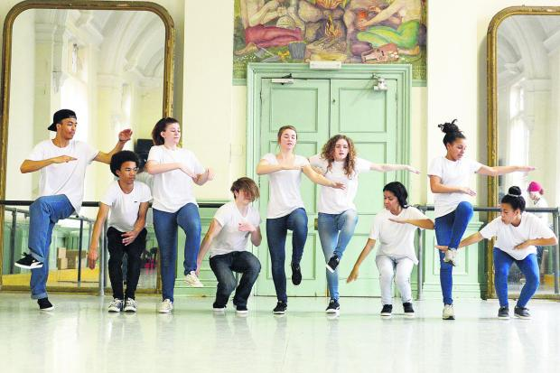 This Is Wiltshire: Young dancers taking part in the workshop