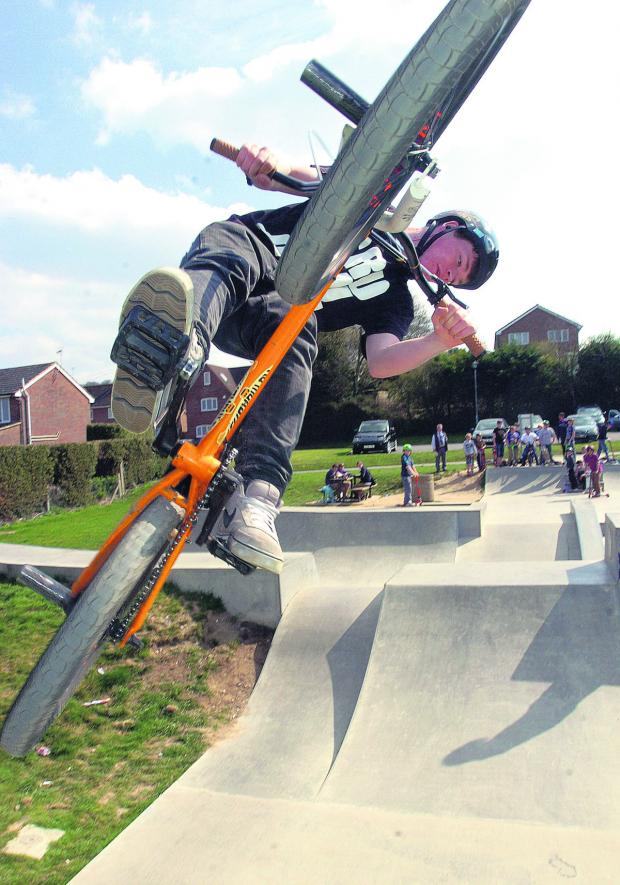 This Is Wiltshire: The skate park in Marlborough is a popular draw for teenagers