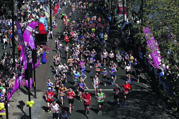 This Is Wiltshire: Runners enjoy London marathon
