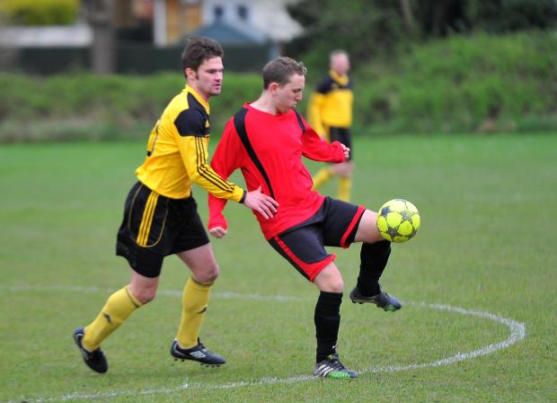 This Is Wiltshire: Action from a Lower Stratton match against Larry's Plaice earlier this season