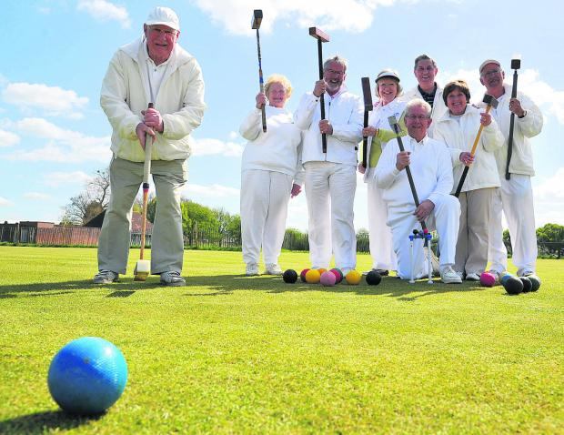 This Is Wiltshire: Swindon Croquet Club members celebrate their windfall