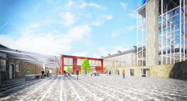 This Is Wiltshire: Artist's impression of the new University Technical College's courtyard