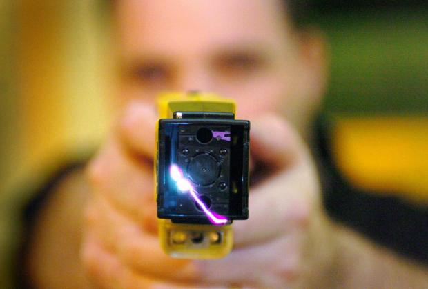 This Is Wiltshire: A typical stun gun: Wiltshire Police are warning of the dangers of buying illegal weapons online