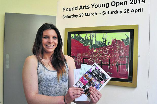 This Is Wiltshire: Chloe Windle with her polysterene print             (49308) By GLENN PHILLIPS