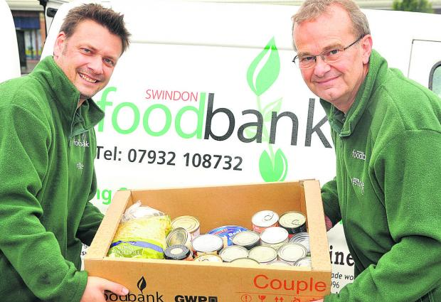 This Is Wiltshire: From left, Alex Pollock and David Martridge of the Foodbank