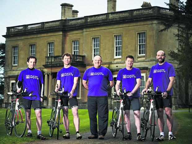 This Is Wiltshire: from left, James Fuller, Dave Shephard, Jeffrey Thomas, Martyn Grant and John Hall