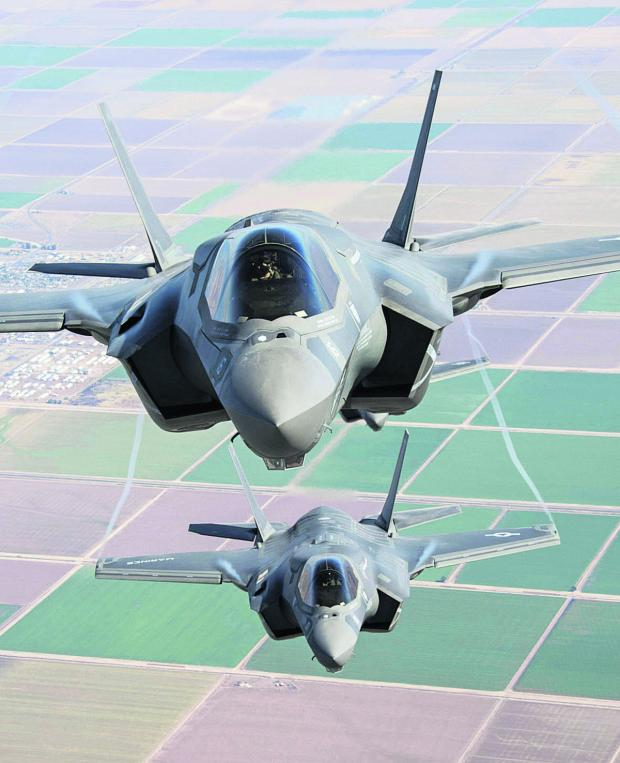 This Is Wiltshire: Two F-35 Lightning II go through their paces over southern California