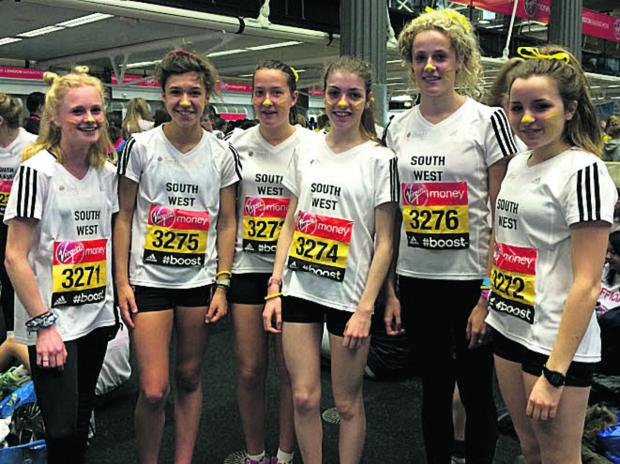 This Is Wiltshire: Gemma Shepherd (second left) with her South West U17 women's team at London