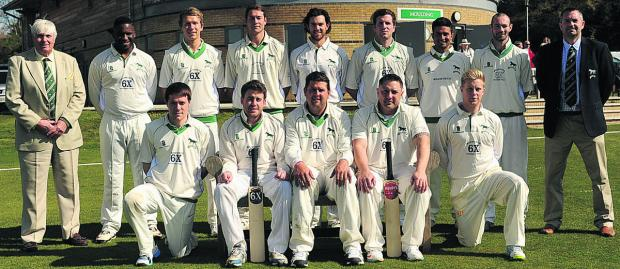 This Is Wiltshire: Wiltshire, pictured before Sunday's win over Berkshire at South Wilts