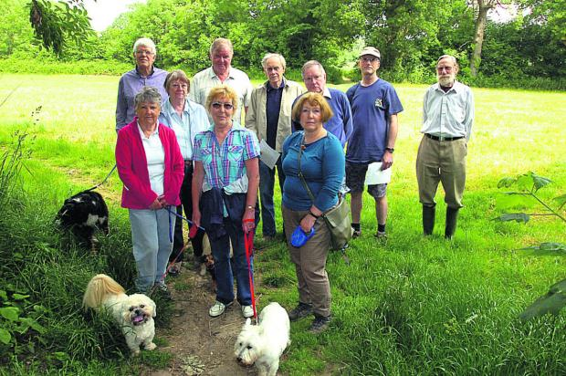This Is Wiltshire: Some of the Friends of Birds Marsh campaigners, who have been fighting to protect a wood north of the application site