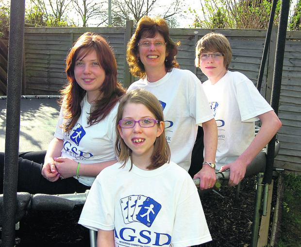 This Is Wiltshire: Azaria Moyse with her sister Kezia, mum Jo and brother Isaac are going to do the 10km walk together
