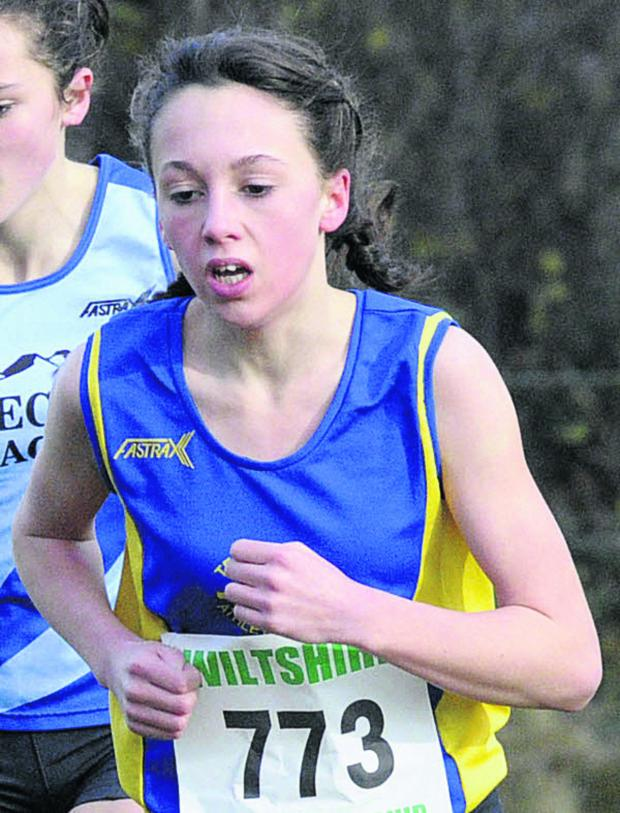 This Is Wiltshire: John of Gaunt School's Caitlin Wosika smashed her personal best by more than 15 seconds