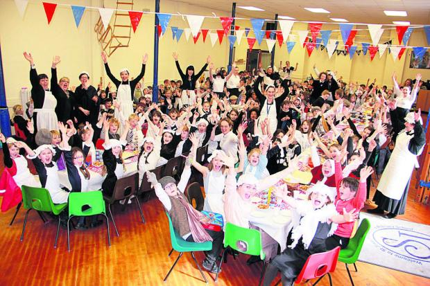 This Is Wiltshire: St Joseph's School celebrates its 150th anniversary by dressing in Victorian costumes