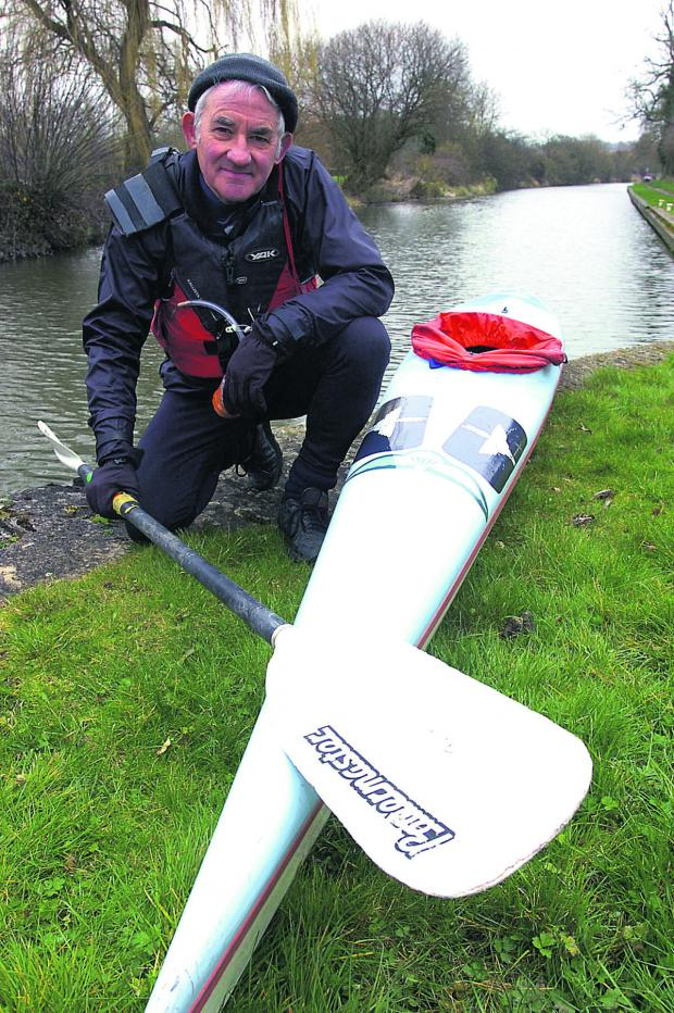 This Is Wiltshire: Bob Norbury, 71, was forced to pull out of the Devizes to Westminster canoe race (PM1108) by Paul Morris