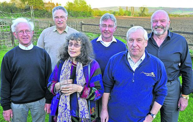 This Is Wiltshire: Campaign for a Better Trowbridge members, from left, are Michael Walter, Roger Evans, Jenny Raggett, Nigel Williams, Richard Covington and Ken McCall Photo: Glenn Phillips  (49328)