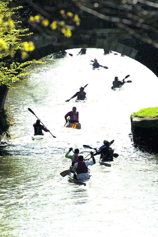 This Is Wiltshire: Competitors get off to a flying start on the Kennet and Avon