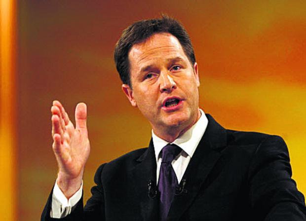 This Is Wiltshire: Deputy Prime Minister Nick Clegg