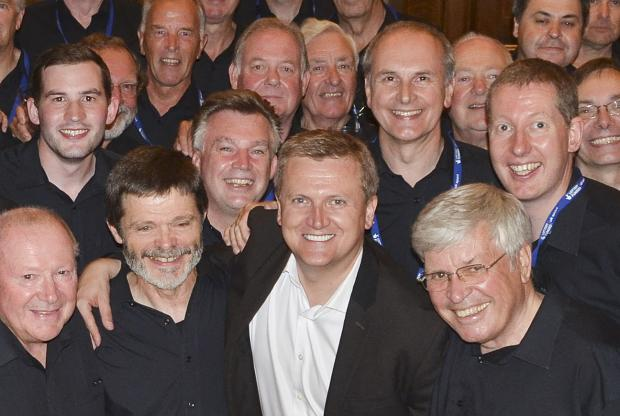 This Is Wiltshire: Members of the Wessx Male Choir with Aled Jones