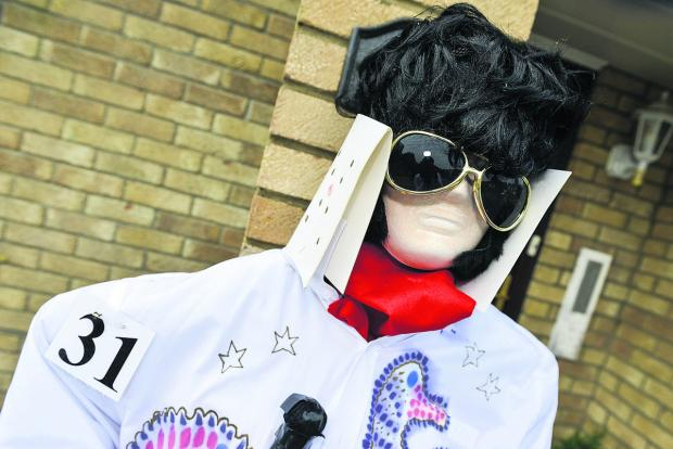This Is Wiltshire: Elvis is alive and well and scaring crows in Highworth