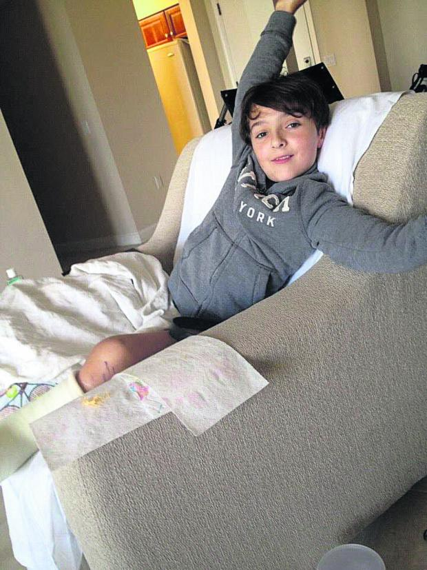 This Is Wiltshire: Luca Railton recovering from surgery in Florida