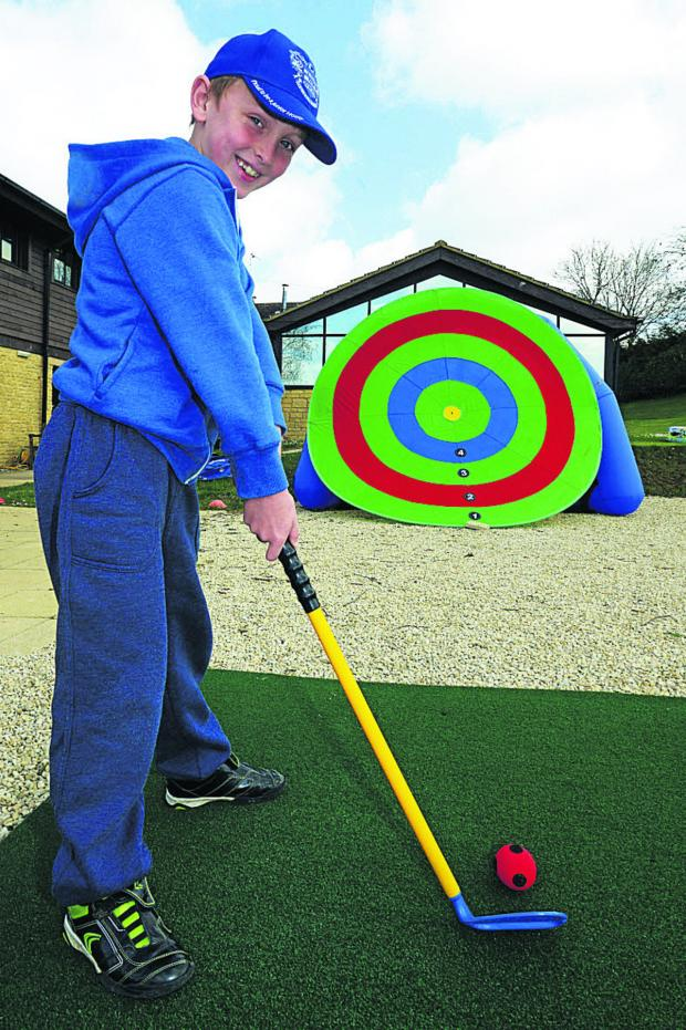 This Is Wiltshire: Ethan on the golf target range
