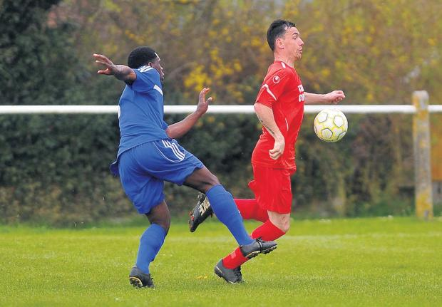 This Is Wiltshire: Purton's Blaine Fitzgerald in action against New College