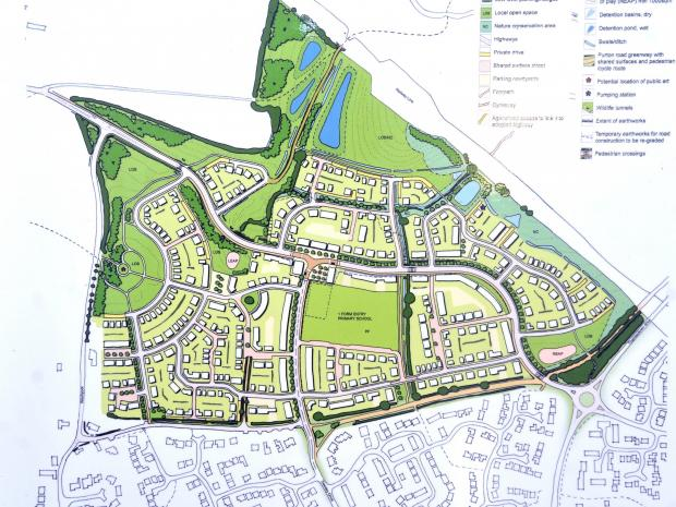 This Is Wiltshire: Taylor Wimpey's initial plans for the Ridgeway Farm development