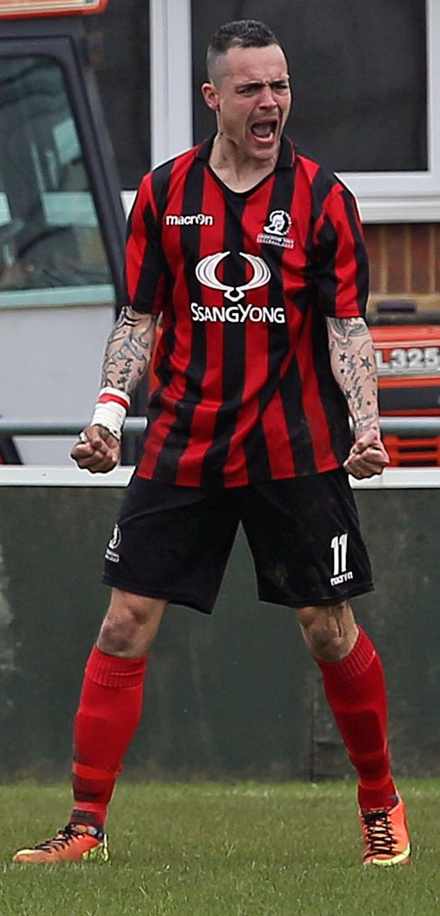 This Is Wiltshire: Cirencester Town striker Lee Smith had agreed to join the Bluebirds before signing for Hungerford