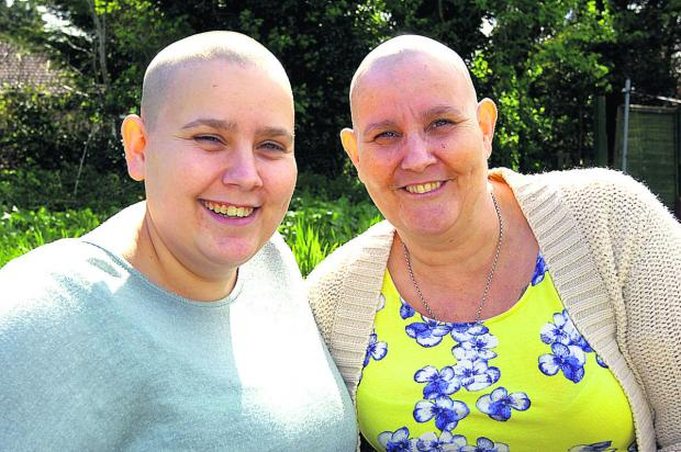 This Is Wiltshire: Danielle Vizor had her head shaved to support mum Julie Dillon (PM1191) By Paul Morris